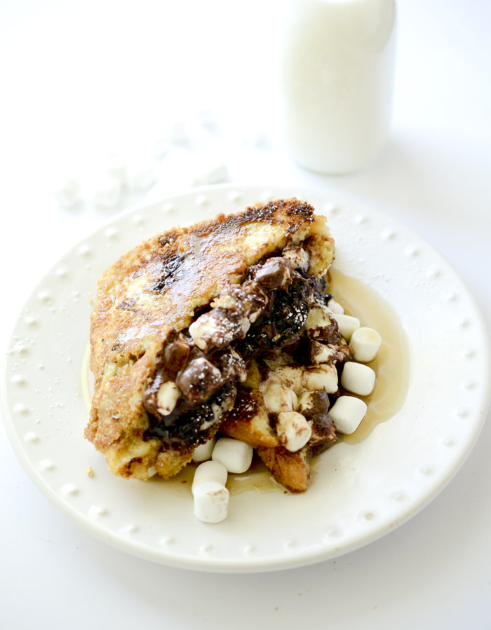 Chocolate-Hazelnut S'moreos French Toast - Recipe Diaries