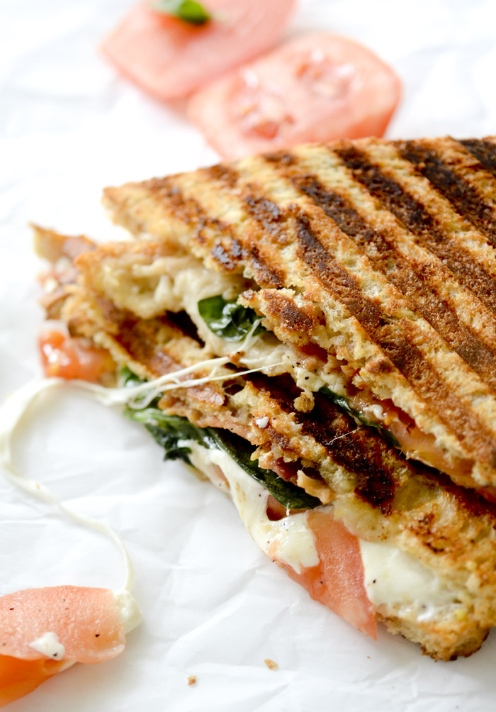 Whole Wheat BLT Caprese Panini - 5 points plus per sandwich