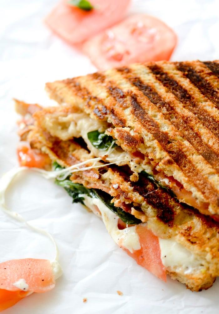 Whole Wheat BLT Caprese Panini  - 5 points plus per sandwich