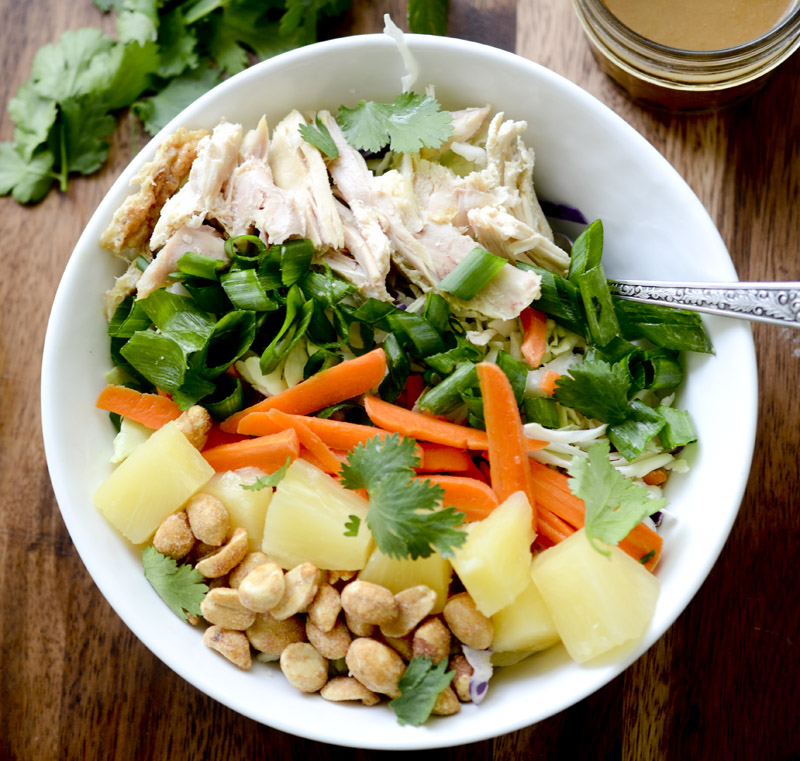 Chopped Thai Chicken Salad with Peanut Dressing 8 points per serving