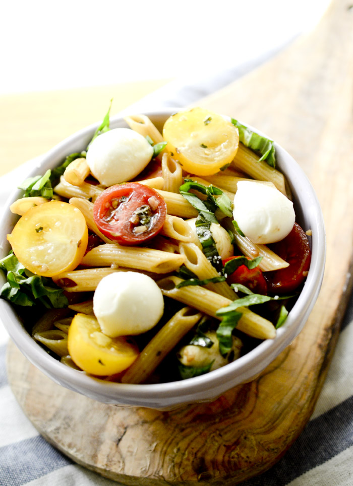 weight watcher's caprese pasta salad 016