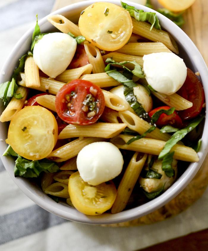 weight watcher's caprese pasta salad 018