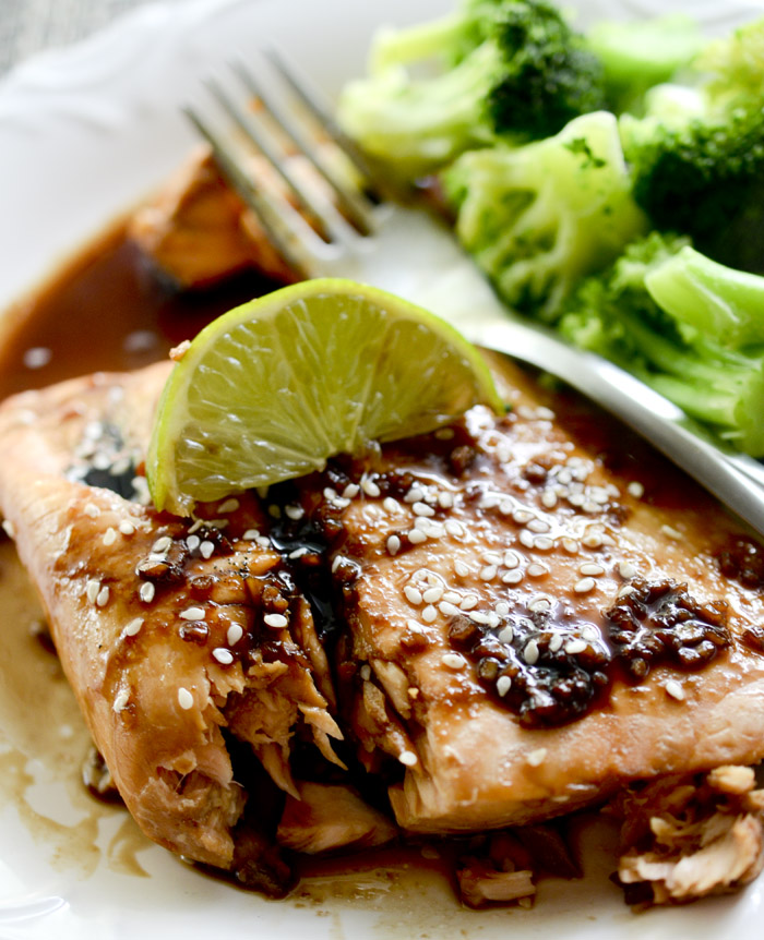 Grilled Salmon with Teriyaki Sauce 011