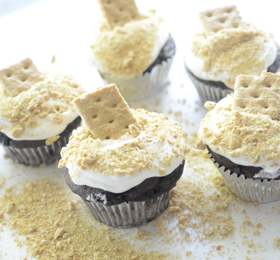 Skinny S'mores Cupcakes 019