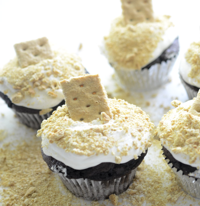 Skinny S'mores Cupcakes 024