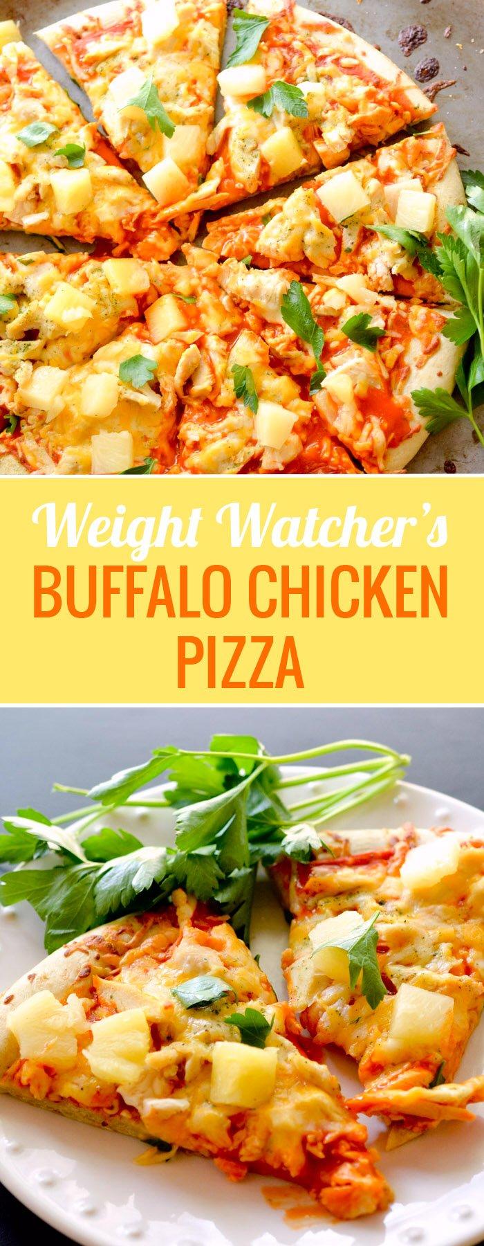 weight watcher's - buffalo chicken pizza