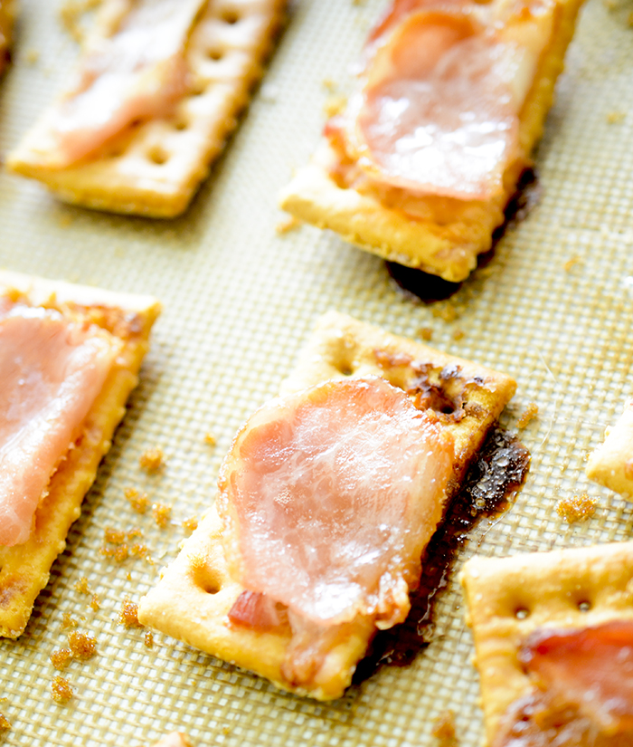 3 Ingredient Bacon Crackers