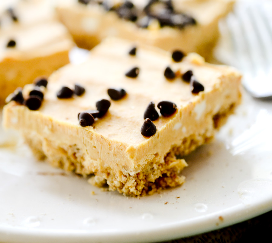 Skinny No Bake Pumpkin Cheesecake Bars
