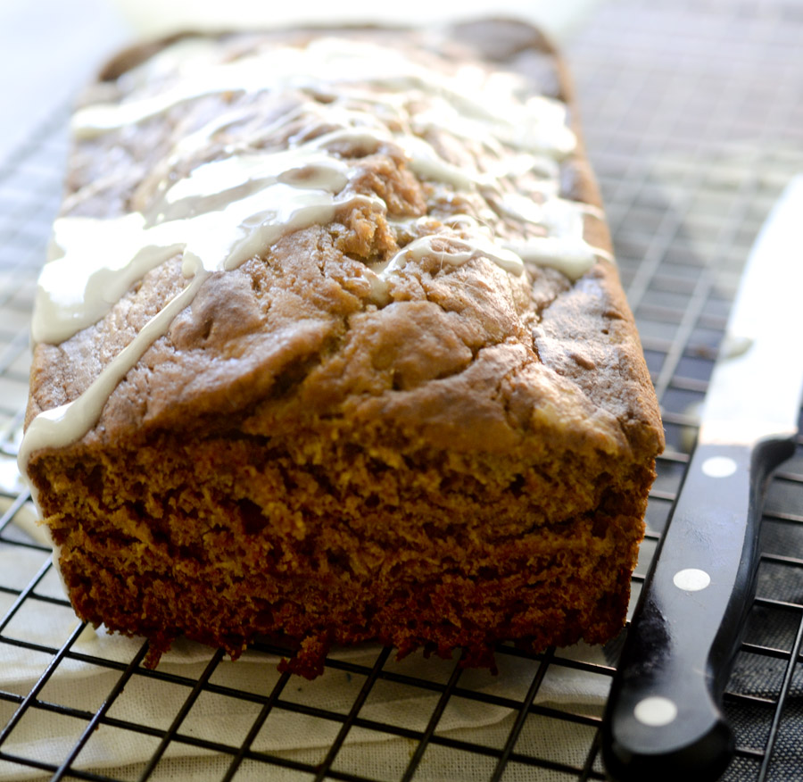 Pumpkin Bread with Honey Glaze