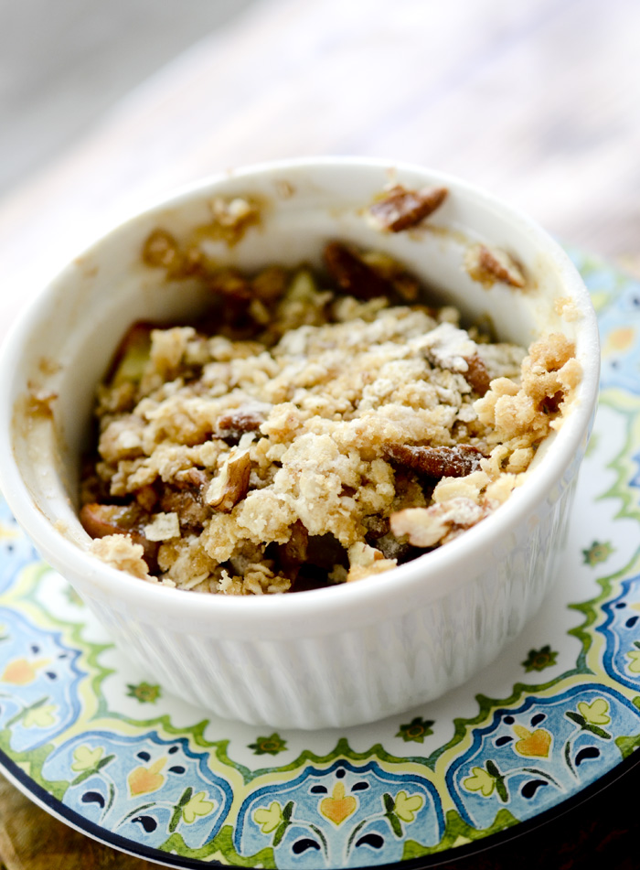 Individual Microwave Apple Crisp