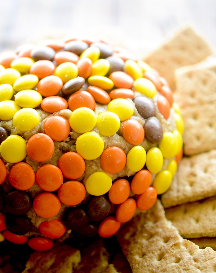 Leftover Halloween Candy Cheese Ball