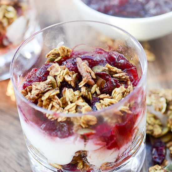 Pumpkin Granola and Orange Cranberry Yogurt Parfaits 012thumb