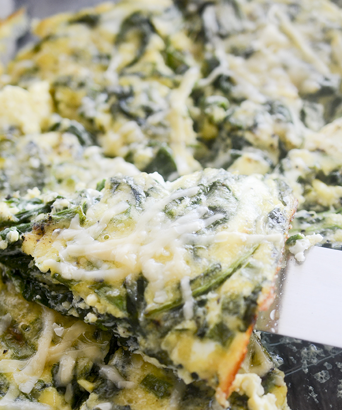 Crustless Spinach and Gouda Quiche