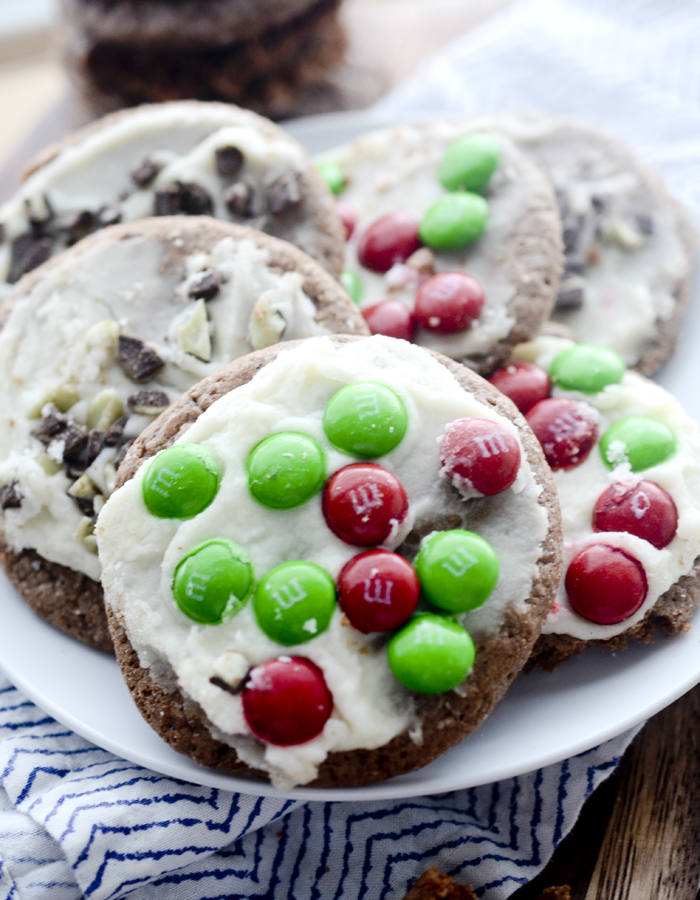 Brownie Cookies with Peppermint Frosting