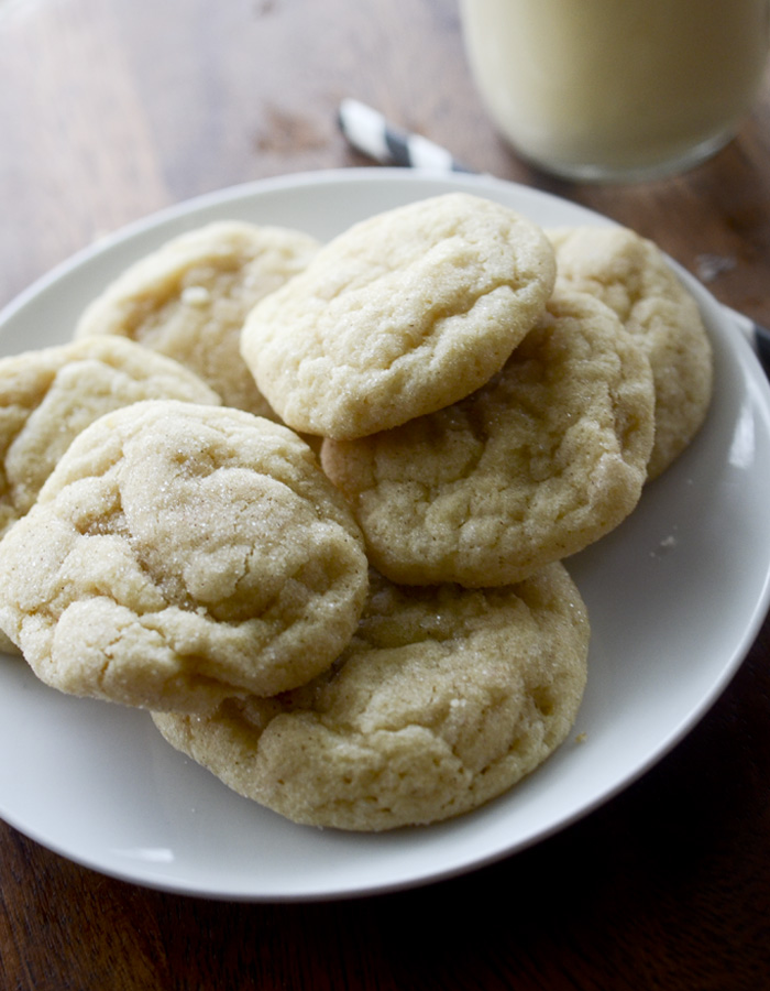 Holiday Eggnog Snickerdoodles