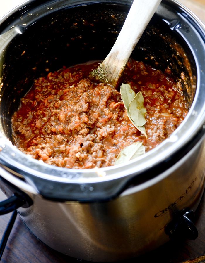 slow cooker meat sauce 002