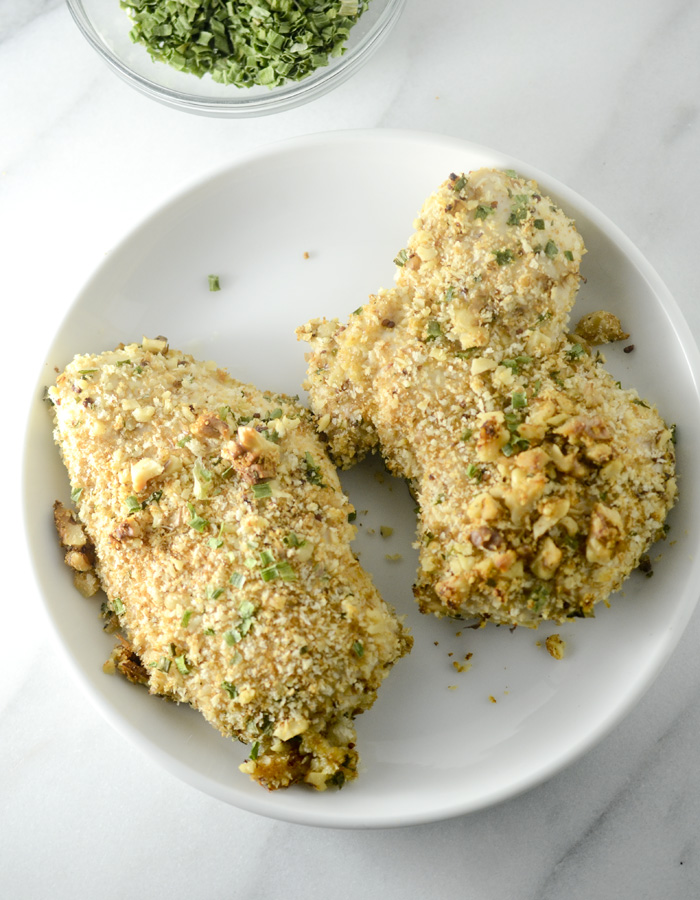 Walnut and Rosemary Oven-Fried Chicken