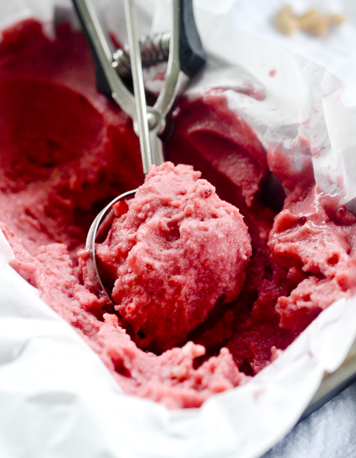 4-Ingredient Strawberry Banana Sorbet