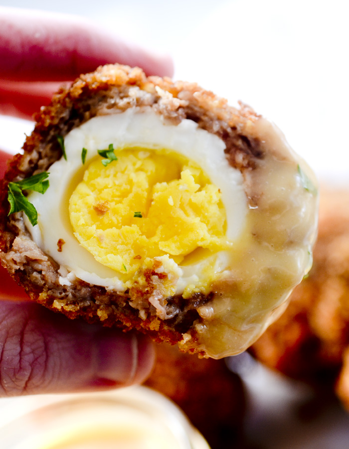 Scotch Eggs with Spicy Maple Aoili
