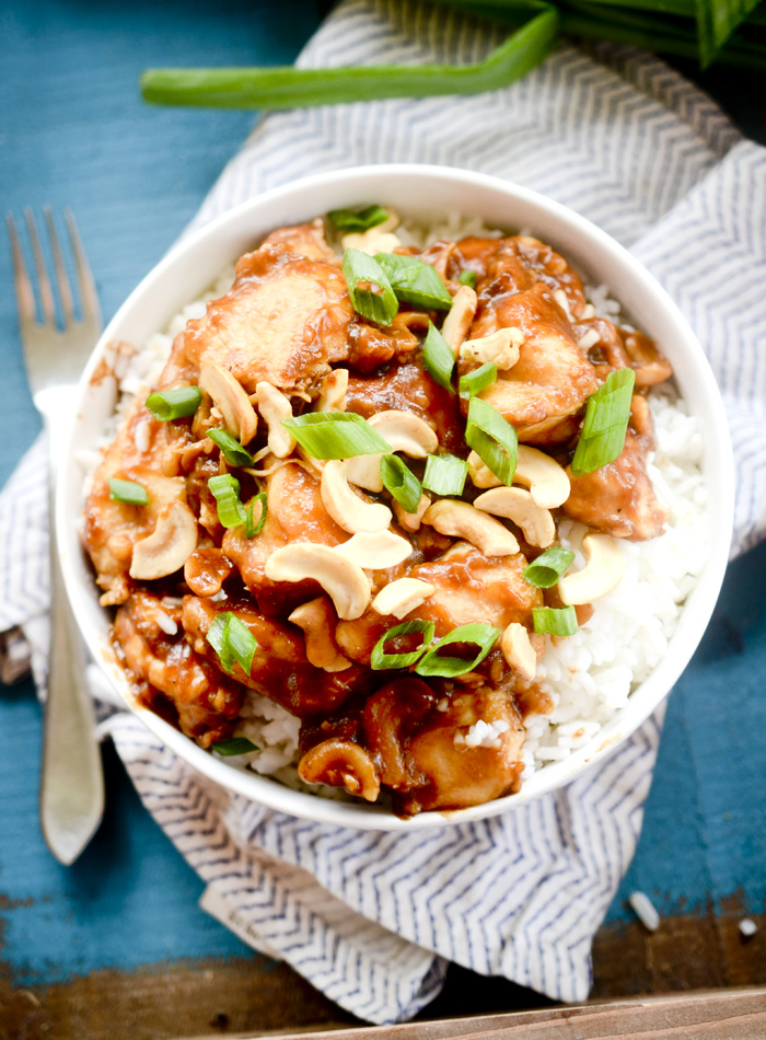Weight Watchers Slow Cooker Cashew Chicken
