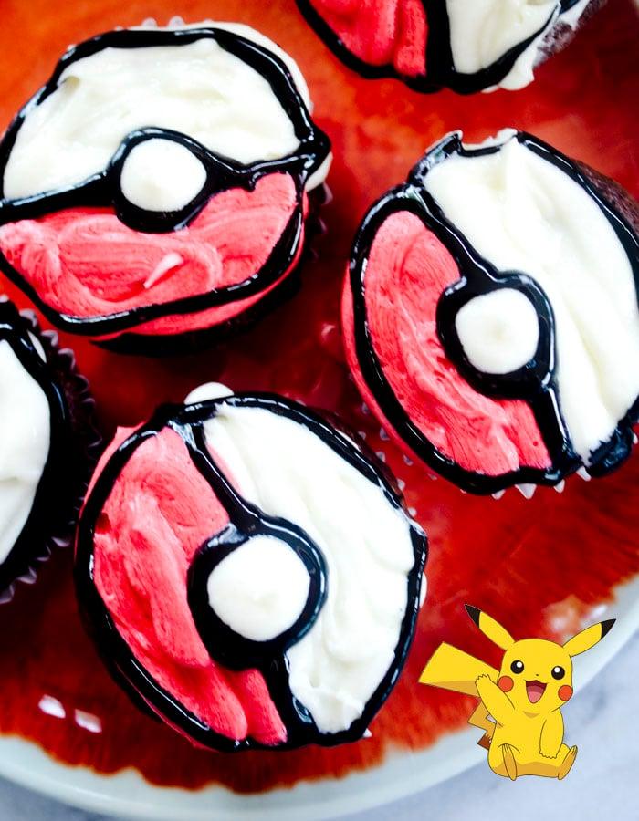 Poké Ball Cupcakes