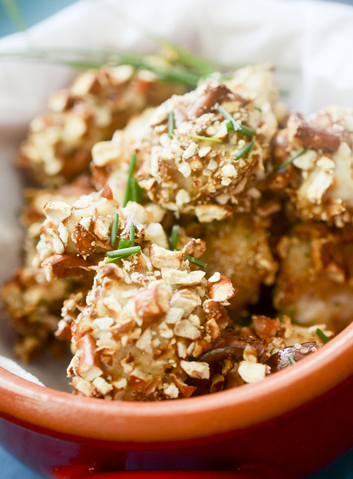 Pretzel Ranch Popcorn Chicken (Baked)