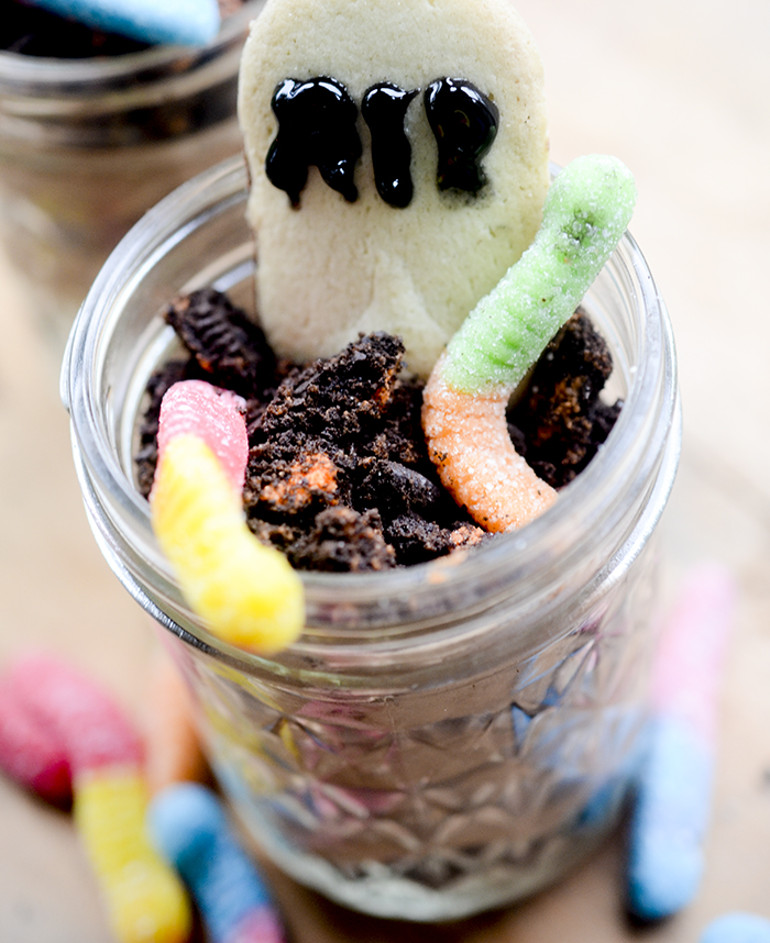 Brownie Batter Graveyard Parfaits