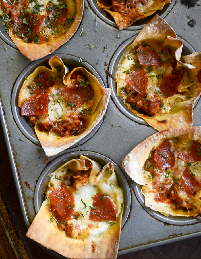 Weight Watchers Mini Pizzagna Cups