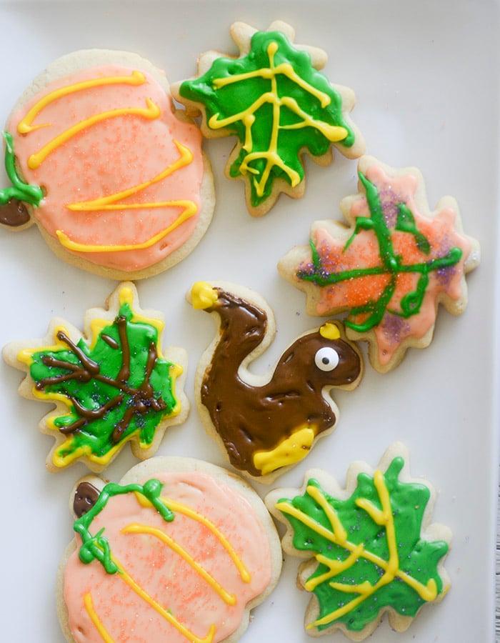 Thanksgiving CutOut Sugar Cookies