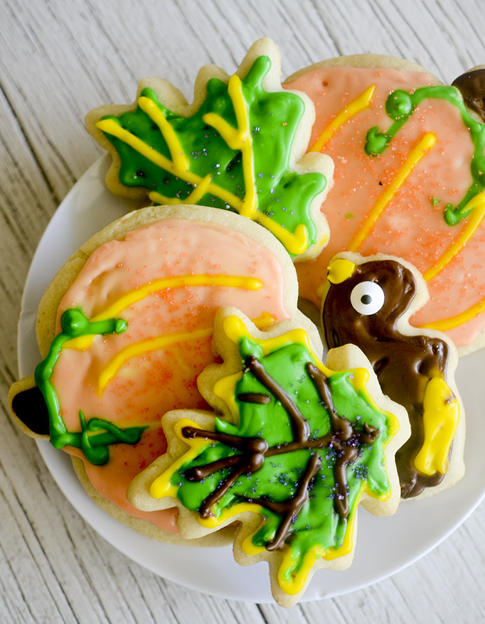 Thanksgiving Cut Out Sugar Cookies