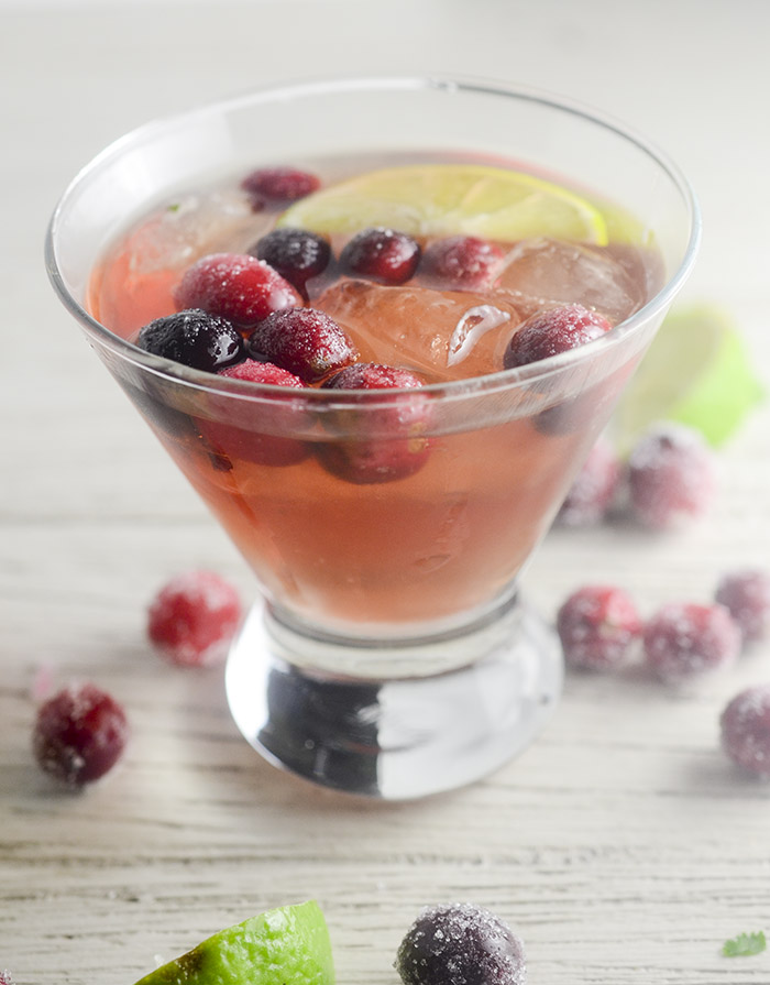 Sugared Cranberry Margaritas