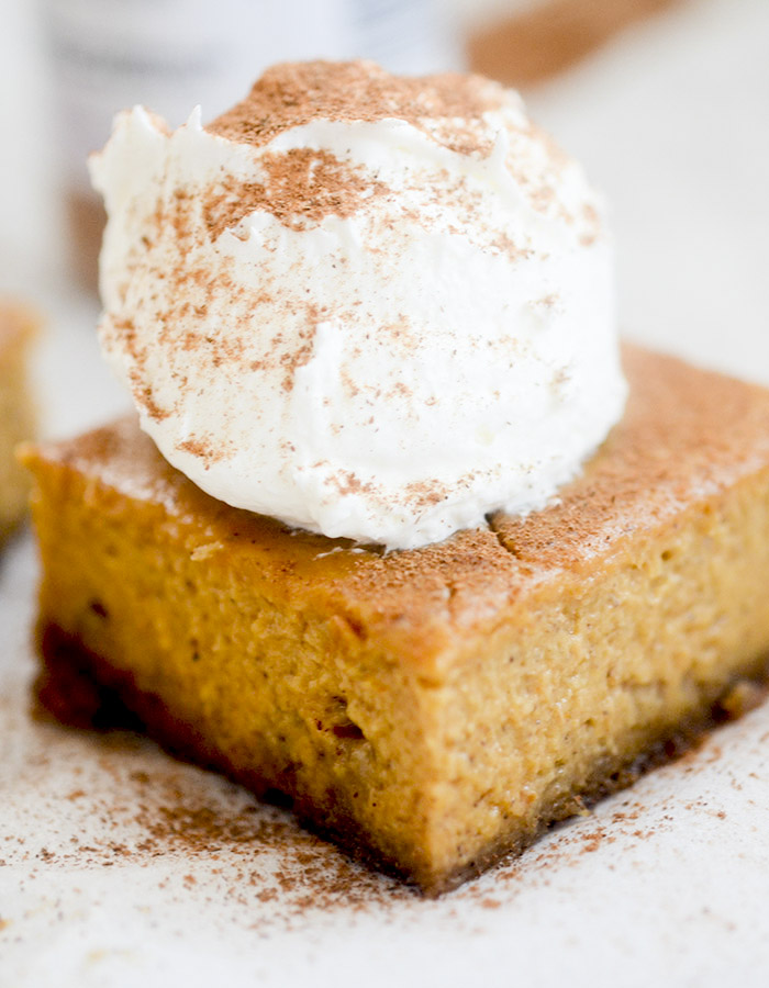 Skinny Pumpkin Pie Bars