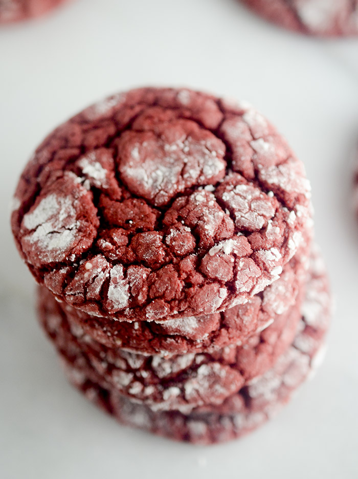 How To Make Red Velvet Crinkle Cookies With Cake Mix