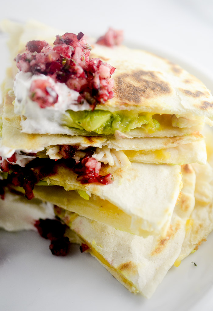 Leftover Turkey and Avocado Quesadillas