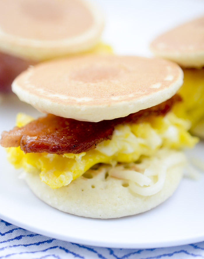 Mini Pancake Breakfast Sliders