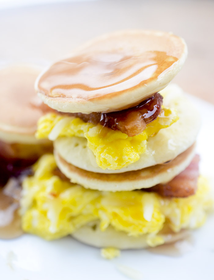 Mini Pancake Breakfast Sliders