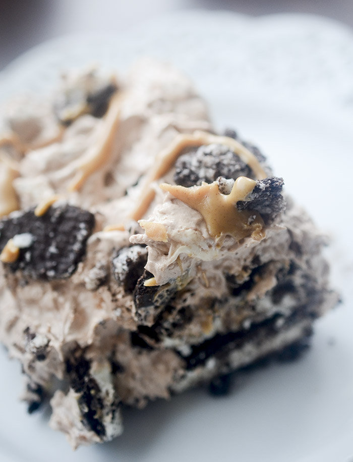 Oreo Peanut Butter Icebox Cake