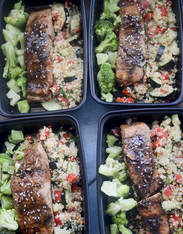 Thai Quinoa and Salmon Meal Prep