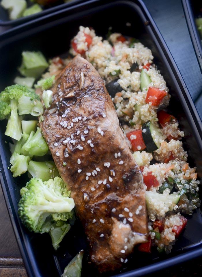 Thai Quinoa and Salmon Meal Prep