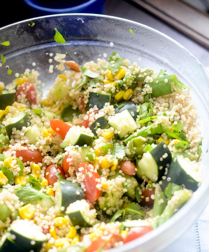 Rainbow Veggie Quinoa Salad - say goodbye to all those other salads in your recipe book, you will want to keep this one!