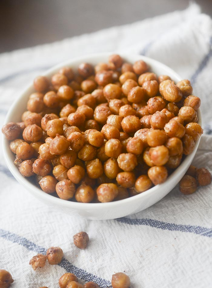 Easy and Healthy Air Fryer Roasted Chickpeas