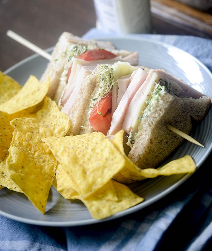 Healthy Turkey Sandwiches 2 different ways