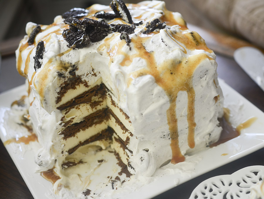 3 Ingredient Oreo Ice Cream Cake