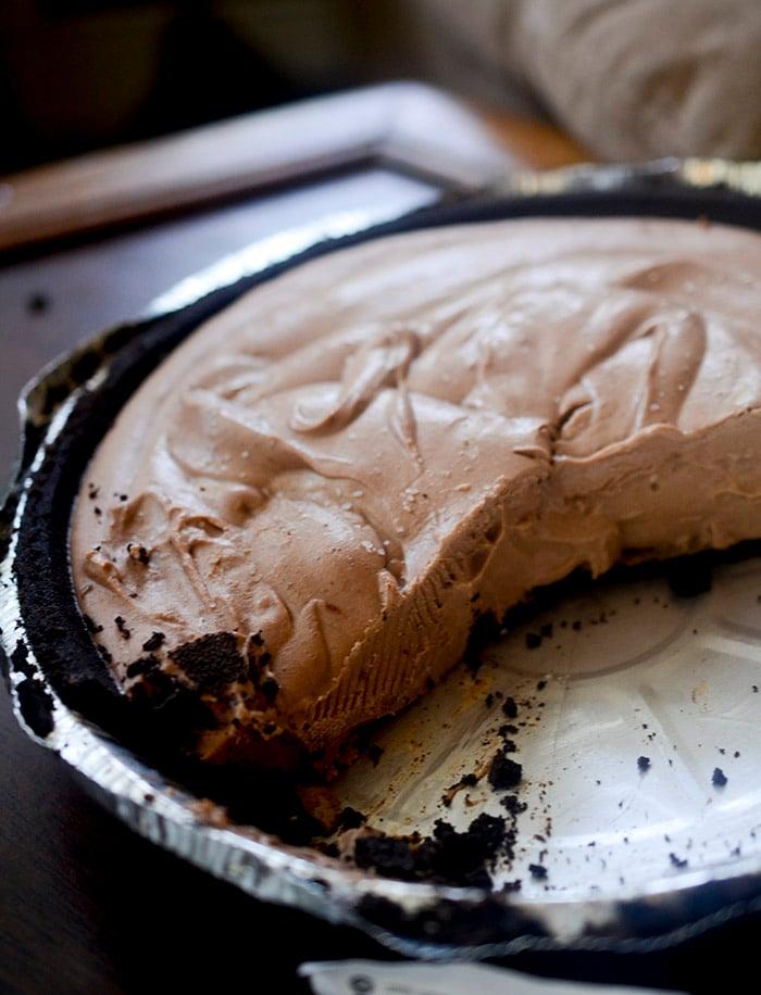 Moo-less Chocolate pie