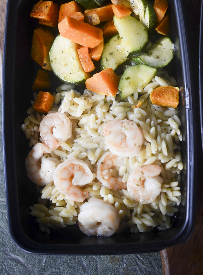 Shrimp Scampi Sheet Pan Dinner – Meal Prep