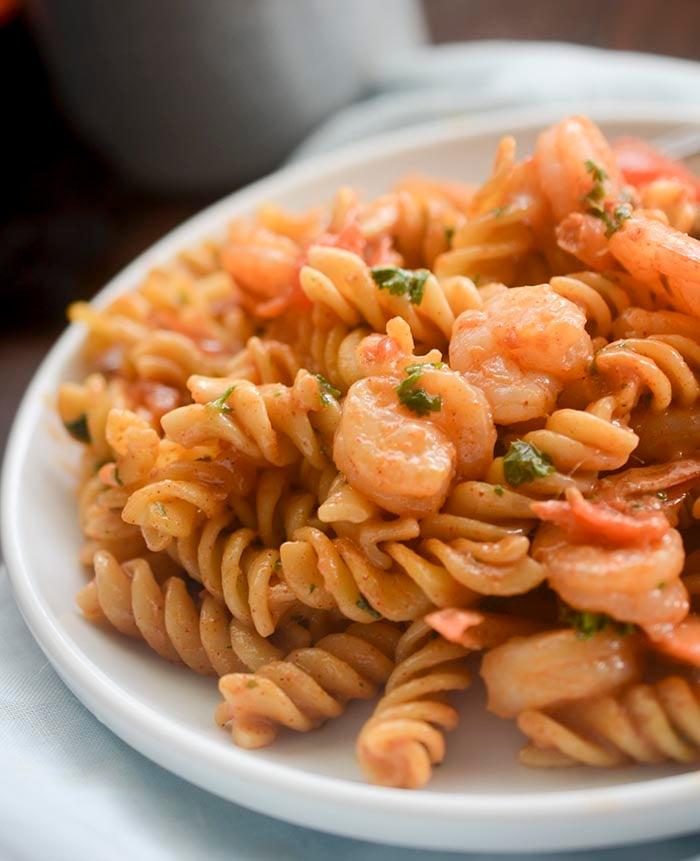Creamy Tomato and Shrimp Pasta