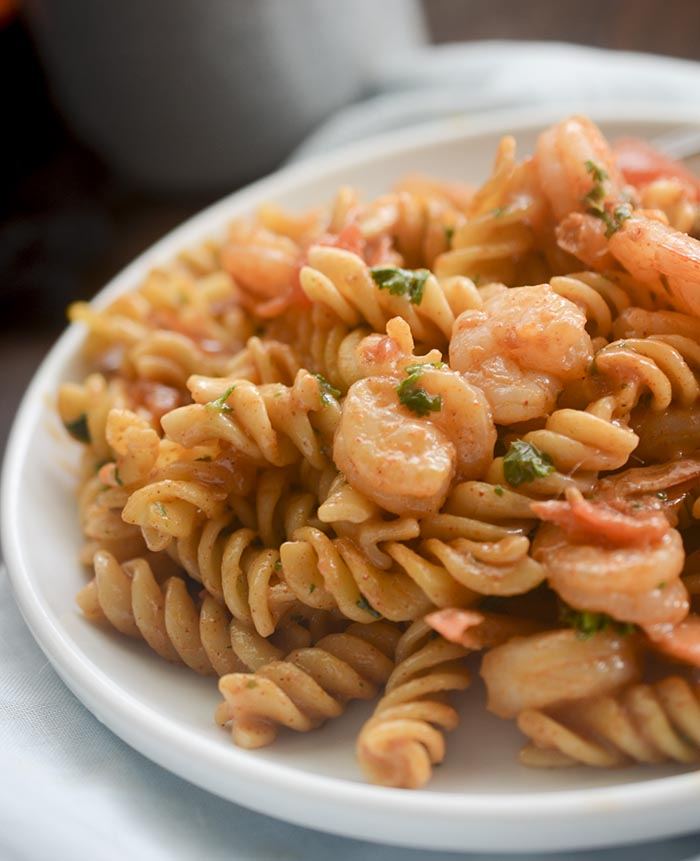 creamy tomato shrimp pasta