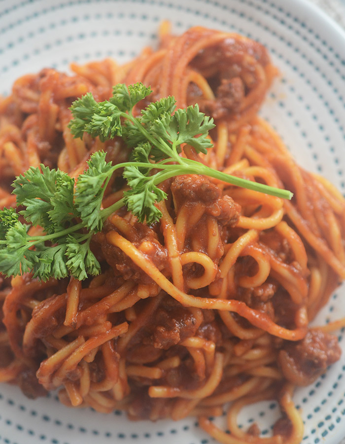 Instant Pot Spaghetti and Meatsauce