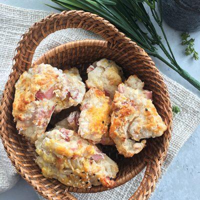 Ham and Cheddar Scones
