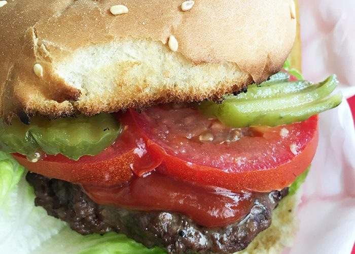 Grilled Burgers with Air Fryer French Fries – 13 Smart Points